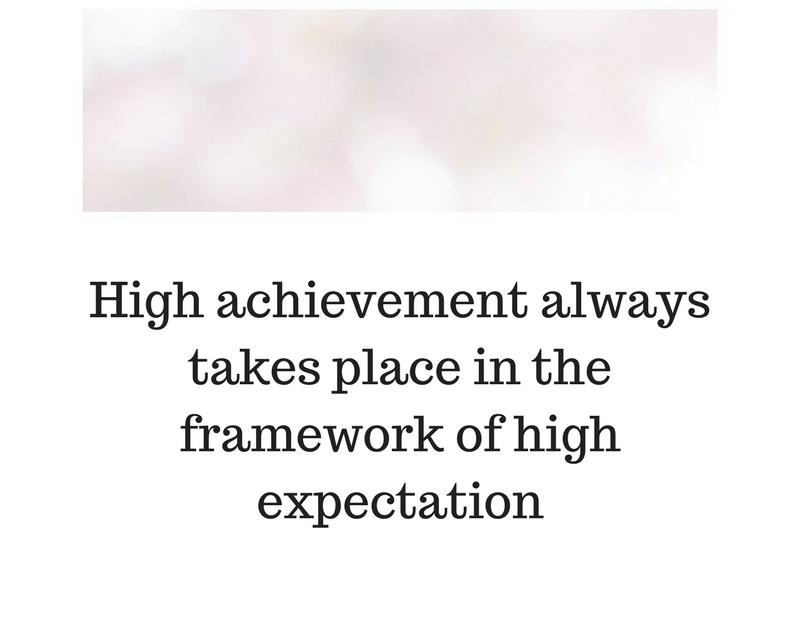 Големите очаквания са предпоставка за голям успех.